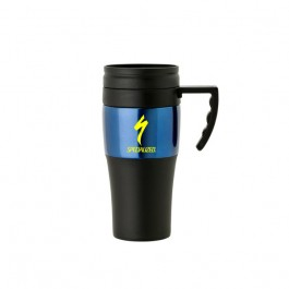 Black / Blue 14 oz. Steel & PP Comfort Handle Mug