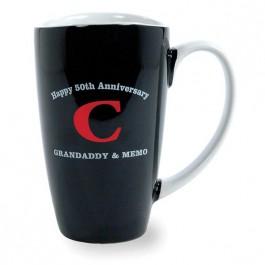 Black / White 17 1/2 oz Westminster Ceramic Coffee Mug