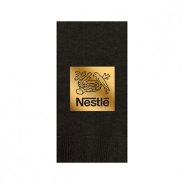 Black Foil Stamped 3 Ply Colored Guest Towel
