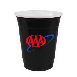 Black 12 oz Soft Plastic Cup