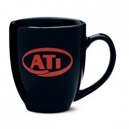Black 16 oz Bistro Ceramic Coffee Mug