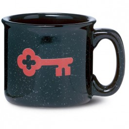 Black 15 oz Campfire Speckle Ceramic Coffee Mug