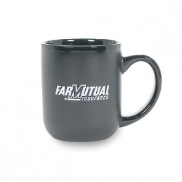 Black 16 oz Captain's Ceramic Coffee Mug