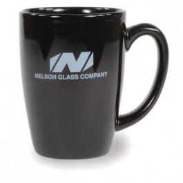 Black 16 oz Houston Ceramic Coffee Mug
