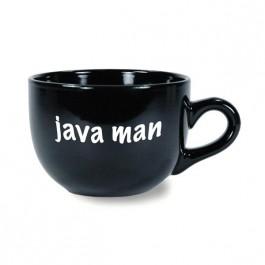 Black 24 oz Coffeehouse Latte II Black Ceramic Coffee Mug