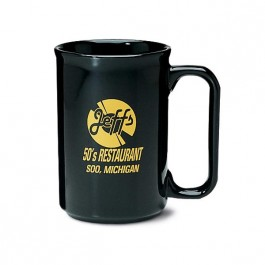 Black 11 oz Covington Ceramic Coffee Mug