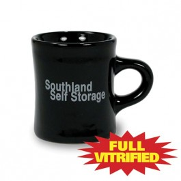 Black 10 oz Tahoe Vitrified Ceramic Coffee Mug
