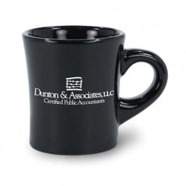 Black 5 1/2 oz Tahoe Vitrified Ceramic Coffee Mug