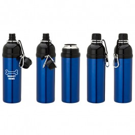 Blue / Black 24 oz Water Bottle for Pets