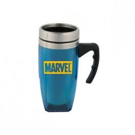 Blue / Silver 16 oz. Square Bottom Mug