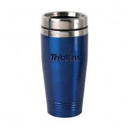 Blue / Stainless 15 oz Engraved Colored Stainless Steel Tumbler