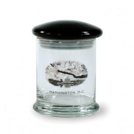 Clear / Black 12 1/4 oz New Orleans Glass Candy Jar