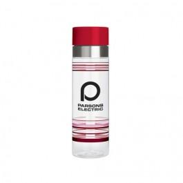 Clear / Red 29 oz. Striped Tritan® Column Water Bottle