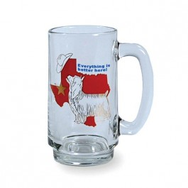 Clear 12 1/2 oz Glass Beer Stein