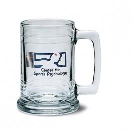 Clear 15 oz Maritime Glass Beer Mug