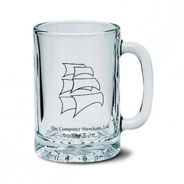 Clear 10 oz Tall Glass Beer Mug with Starburst
