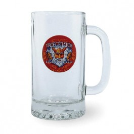 Clear 16 oz Premium Glass Beer Stein