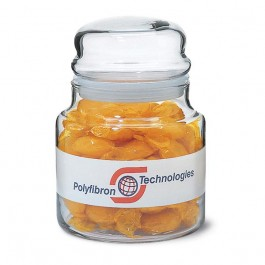 Clear 22 oz Glass Candy Jar