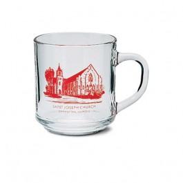 Clear 10 oz Clear Mandy Glass Coffee Mug