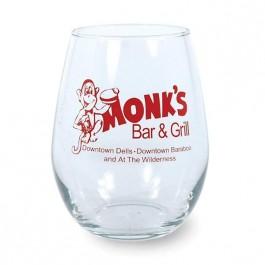 Clear 11 3/4 oz Stemless Wine Glass