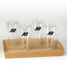 Clear 18 oz Binara Set w/Tray