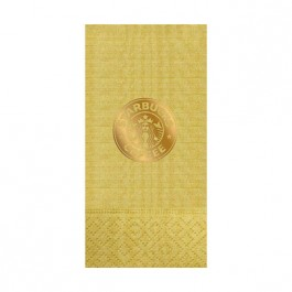 Gold Foil Stamped Moire Guest Towel