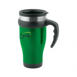 Green / Black 16 oz Stainless Travel Mug