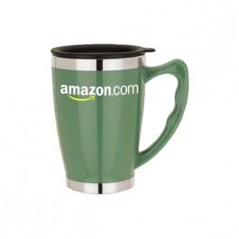 Green 14 oz. Acrylic / Stainless Steel Classic Mug