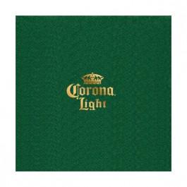 Green Foil Stamped Linun Beverage Napkin