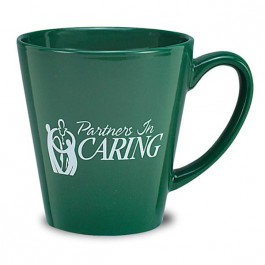 Green 12 oz Adams Glossy Ceramic Coffee Mug