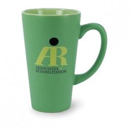 Green 16 oz Festival Matte Ceramic Coffee Mug