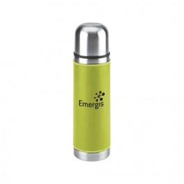 Green 16 oz Leatherette Vacuum Bottle
