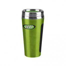 Green 18 oz. Dual-Grip Travel Tumbler