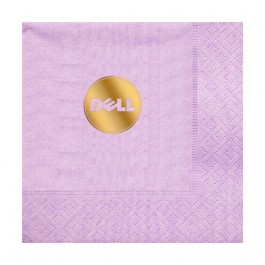 Lavender Foil Stamped Moire Luncheon Napkin