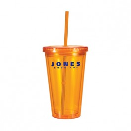 Orange 16 oz Victory Acrylic Tumbler