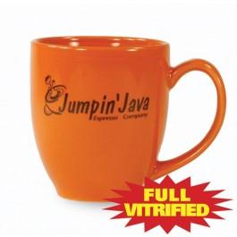 Orange 14 1/2 oz Orange or Red Vitrified Restaurant Ceramic Coffee Mug