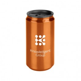 Orange 14 oz. Soda Can Travel Tumbler