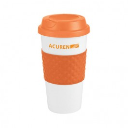 Orange 19 oz. Color Banded Classic Travel Coffee Cup