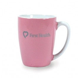 Pink 12 1/2 oz Challenger Ceramic Coffee Mug