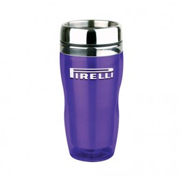 Purple 16 oz. Curvy Travel Tumbler