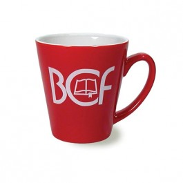 Red / White 11 oz Adams Red Vitrified Ceramic Coffee Mug