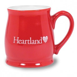 Red / White 15 oz Seattle Red Vitrified Ceramic Coffee Mug