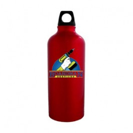 Red / Black 20 oz Sport Flask Aluminum Water Bottle - FCP