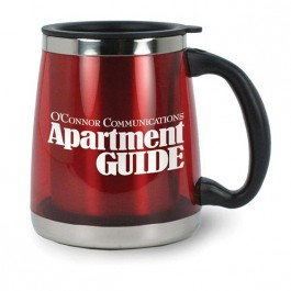Red 16 oz Oxford Stainless Liner Coffee Mug