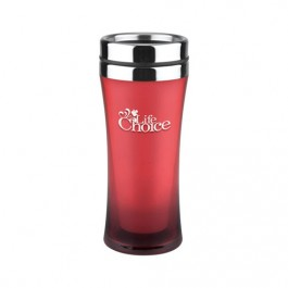 Red 14 oz. Fashion First Travel Tumbler