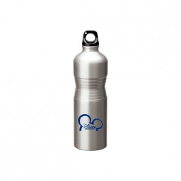 Silver / Black 23 oz. Indent Grip Aluminum Water Bottle