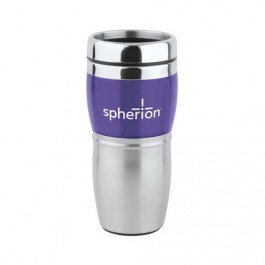 Silver / Purple 16 oz. Wave Travel Tumbler
