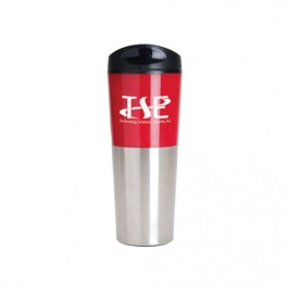 Silver / Red 20 oz. Tall Travis Travel Tumbler