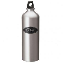 Silver 1L Aluminum Twist Top Sports Bottle