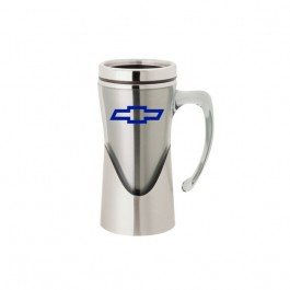 Silver 14 oz. Curved Handle Mug